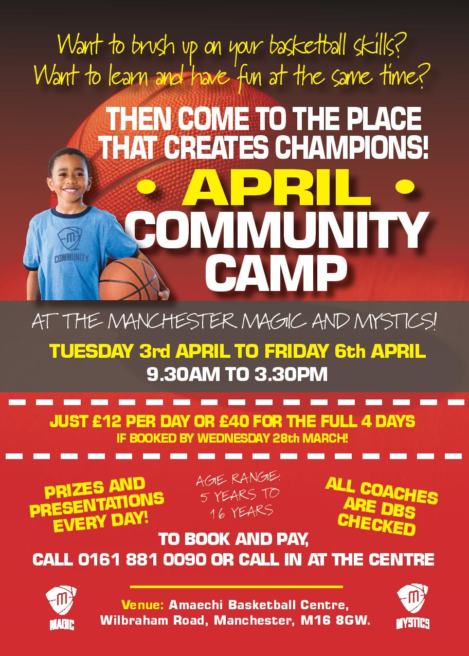 Manchester Magic and Mystics' April Community Basketball Camp 2018