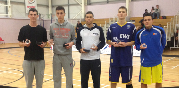 Haris Tournament 2012 All-Star 5 - Conor Porter (Magic U18), Edin Atic (Kos Sarajevo), Alessandro Verga (Switzerland Select),  Constantin Kalmund (Akademie Weser) and Ferran Ventura (CB Cornella)