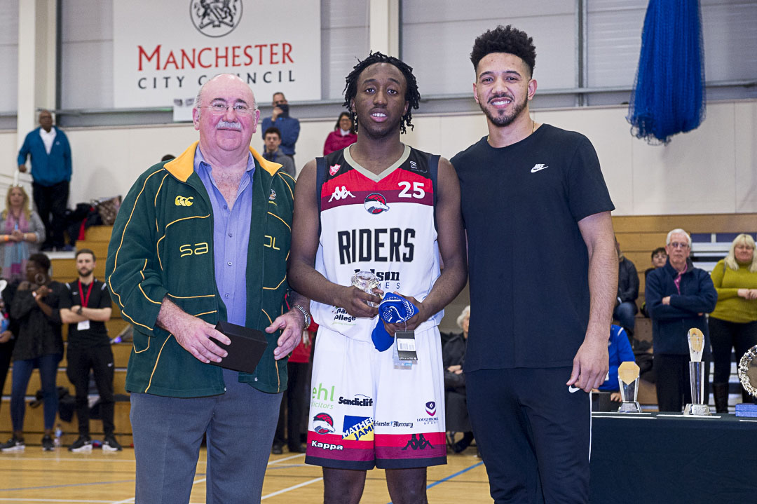 Haris Tournament 2017 Daniel Whelan MVP Award Sesan Russell - Charnwood College Riders