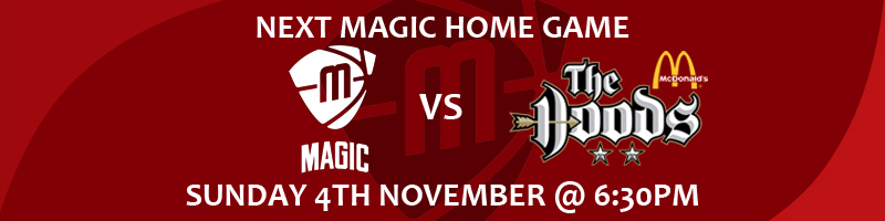 Manchester Magic vs Nottingham Hoods Sunday 4th November at 6:30pm at the Manchester Basketball Centre