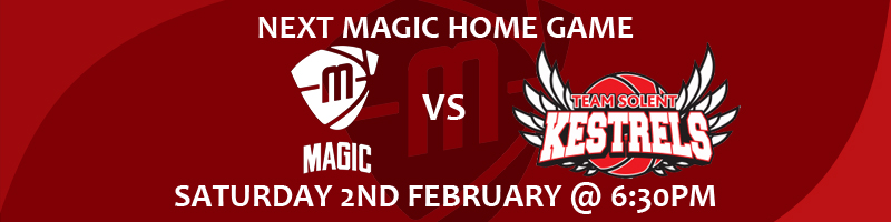 Manchester Magic vs Team Solent Kestrels Saturday 2nd February at 6:30m at the Manchester Basketball Centre