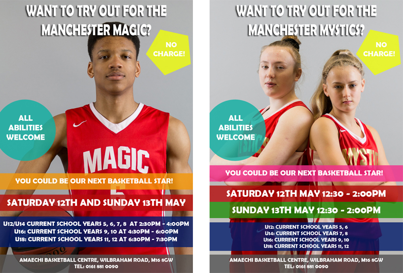 Manchester Magic and Mystics Junior Trials Saturday 12th and 13th May 2018