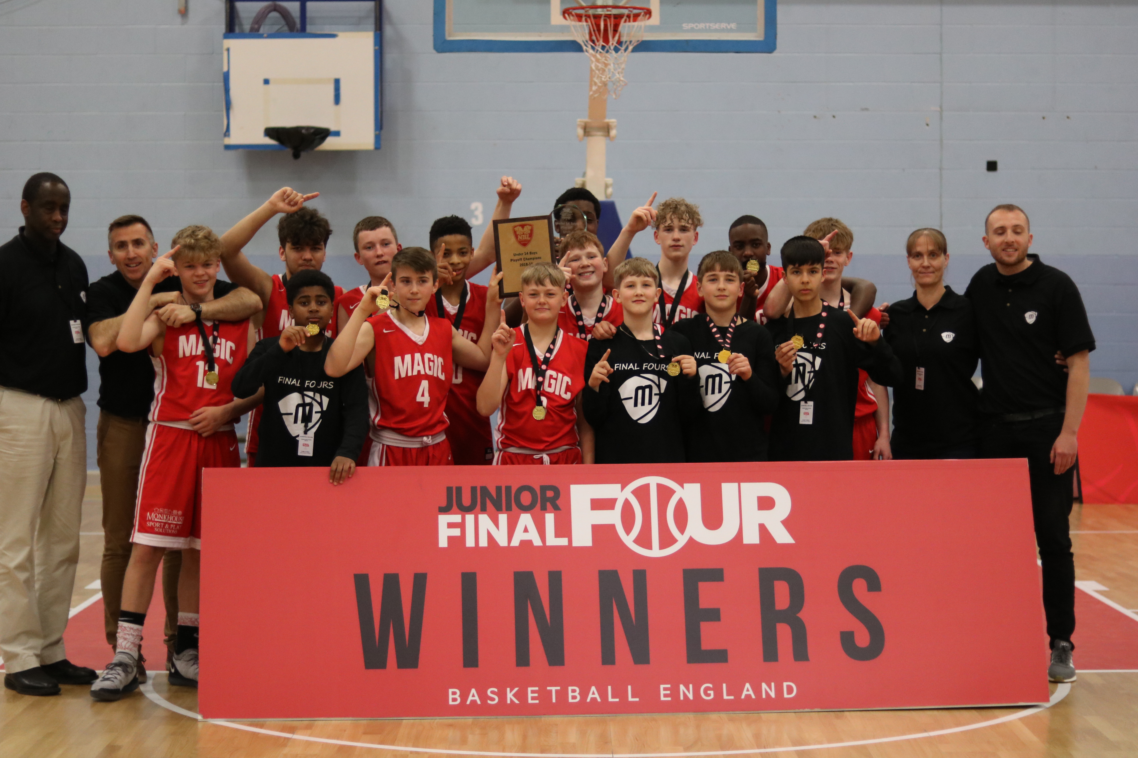 Manchester Magic U14 Champions at Junior Final Fours 2019