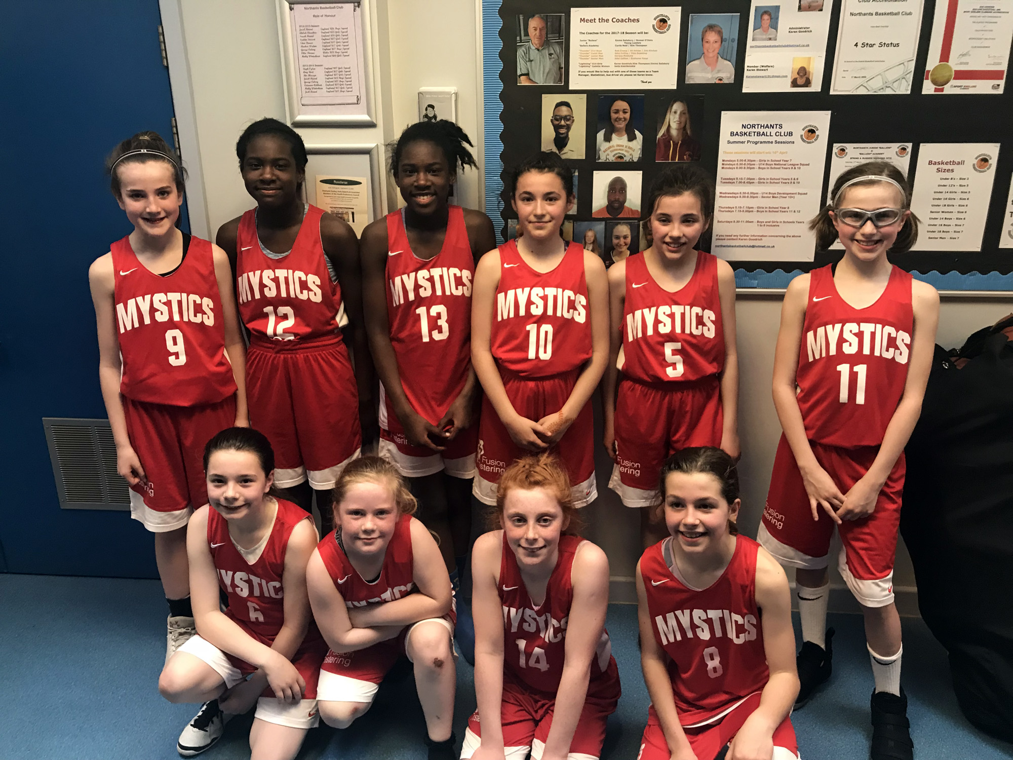 Manchester Mystics U11 at Northants Tournament 2018