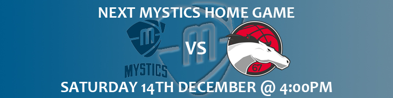 Manchester Mystics vs Liecester Riders Saturday 14th December at 4:00pm at the National Basketball Performance Centre