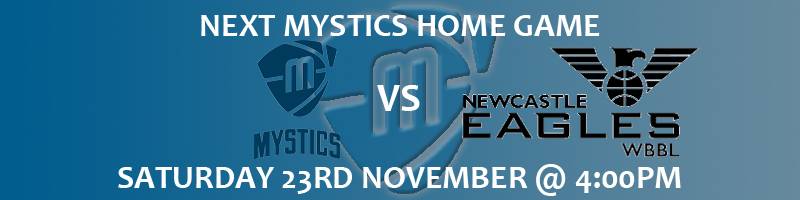 Manchester Mystics vs Newcastle Eagles Saturday 23rd November at 4:00pm at the National Basketball Performance Centre