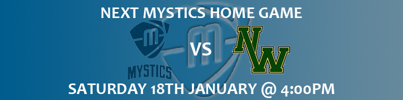 Manchester Mystics vs Nottingham Wildcats Saturday 18th January at National Basketball Performance Centre at 4:00pm WBBL  £3 Adults, £1 U18s