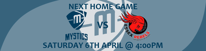 Manchester Mystics vs Essex Rebels Saturday 6th April at 4:00pm at the National Basketball Performance Centre