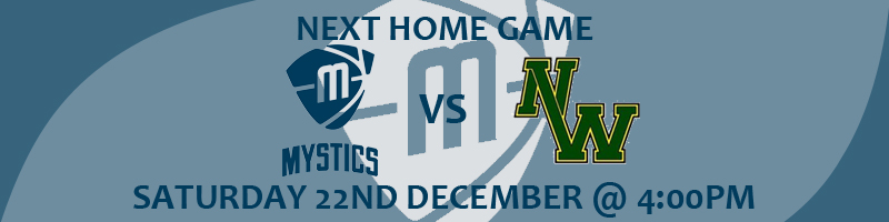 Manchester Mystics vs Nottingham Wildcats Saturday 22nd December at 4:00pm at the National Basketball Performance Centre