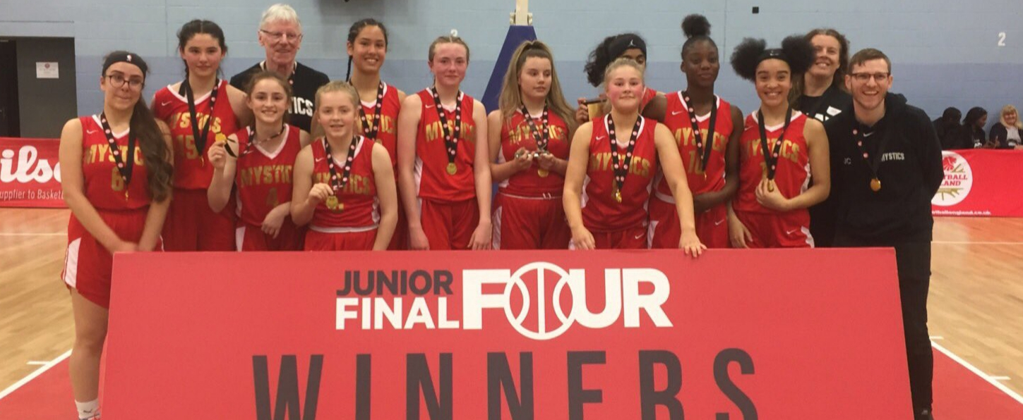 Manchester Mystics U14 Chamions at Junior Final Fours 2019