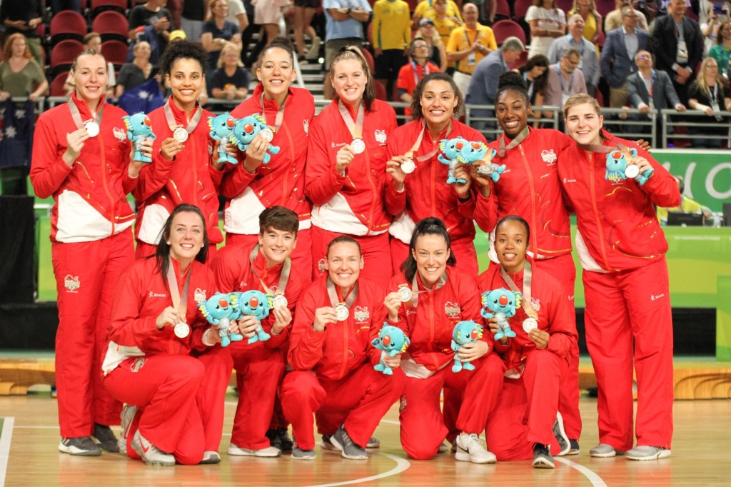 Team England win Silver at Commonwealth Games 2018 Image Credit Basketball England